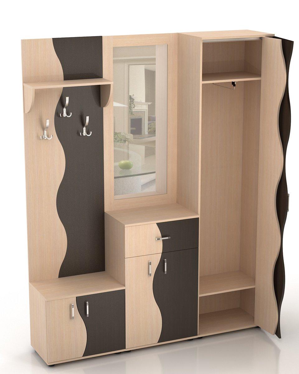 Стенка для прихожей волна-2 купить мебель и комплектующие в .